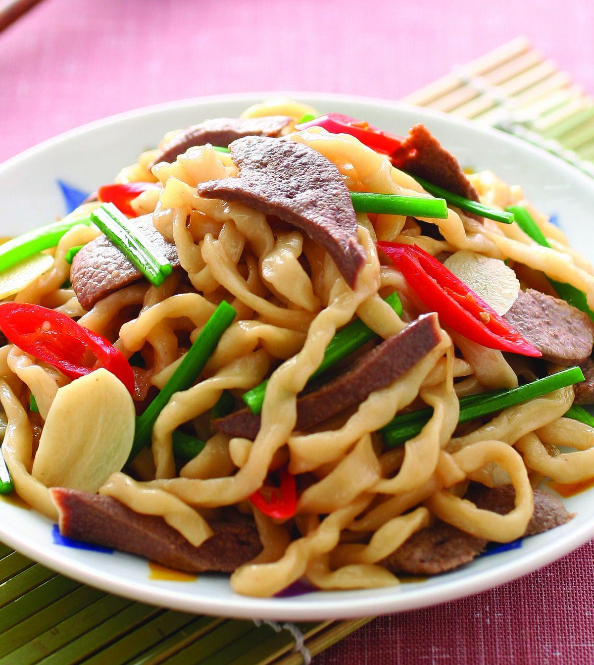 食譜:豬肝炒麵(1)