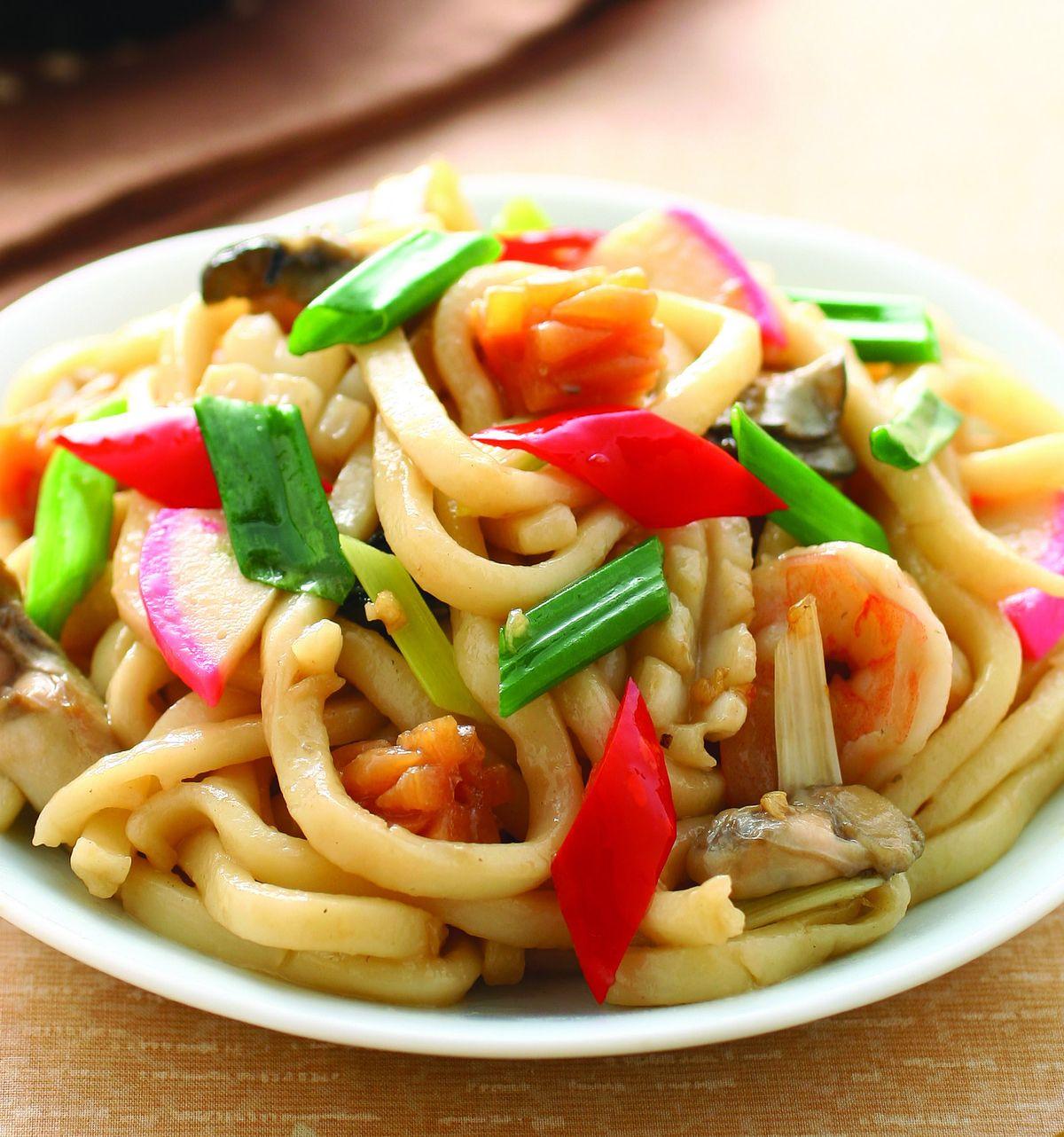 食譜:海鮮烏龍炒麵(1)