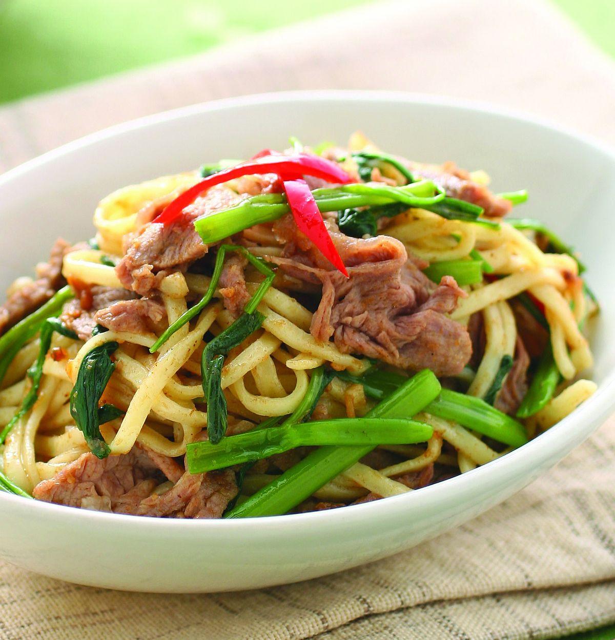 食譜:羊肉炒麵