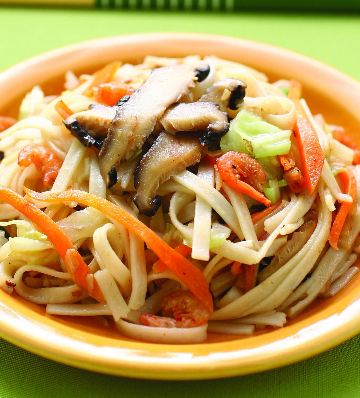 食譜:香菇炒掛麵