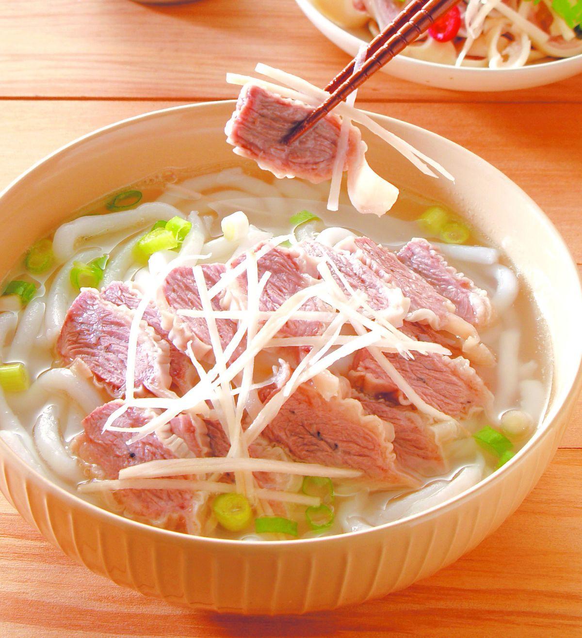 食譜:肝連米苔目湯