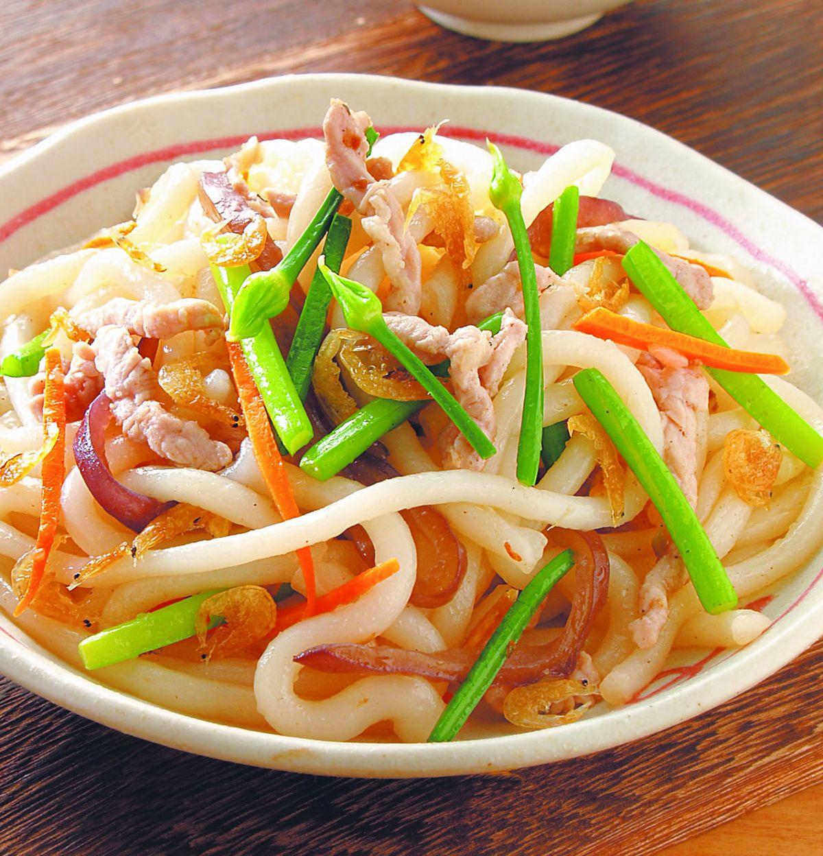 食譜:肉絲炒米苔目(1)