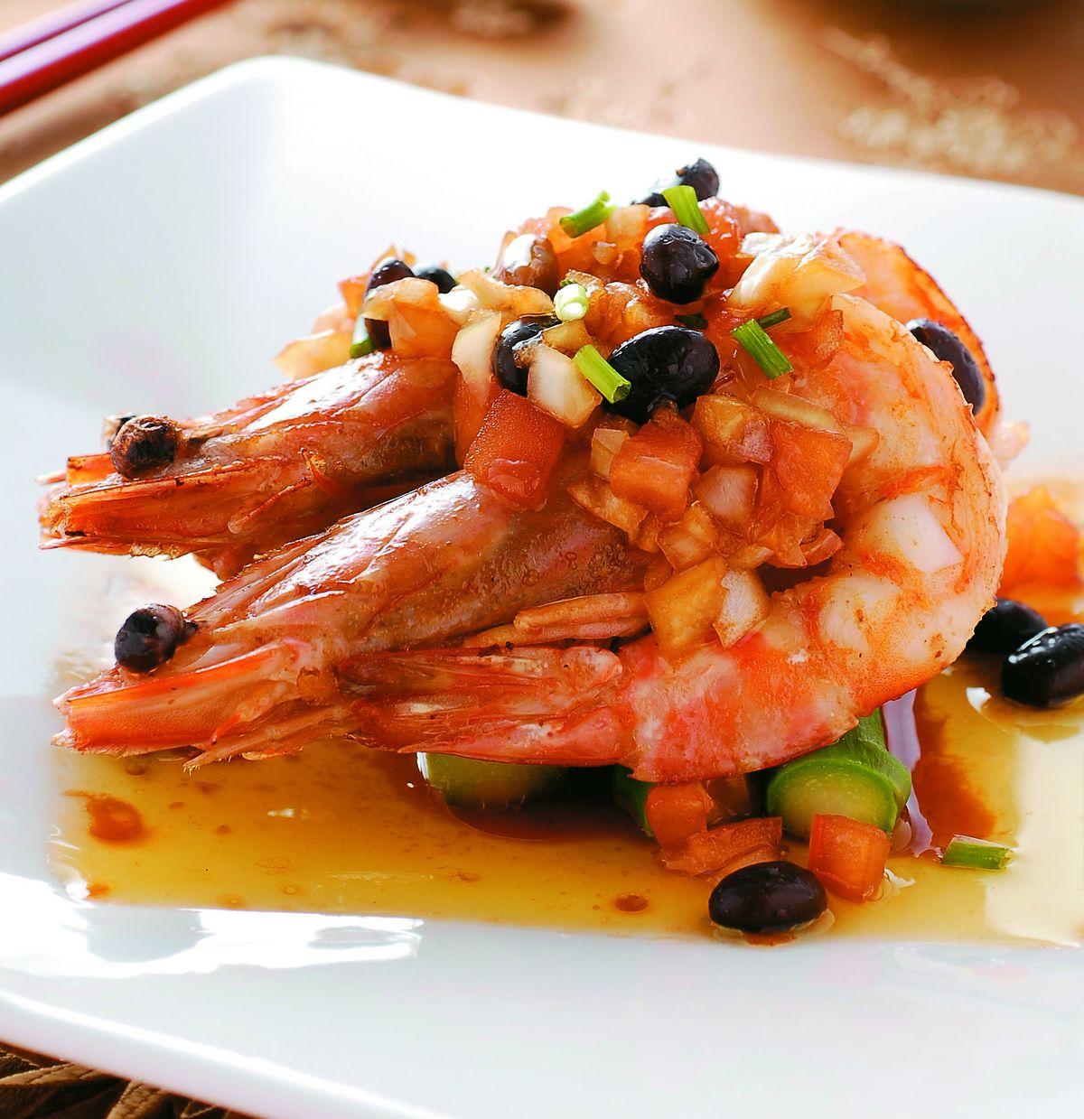 食譜:香煎黑豆明蝦