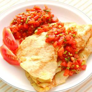 墨西哥煎餅佐莎莎醬