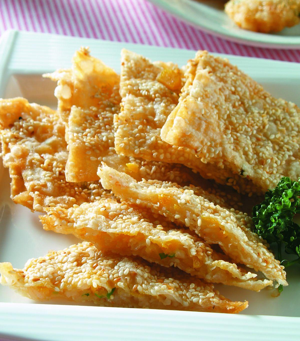 食譜:芝麻蛋黃蝦餅