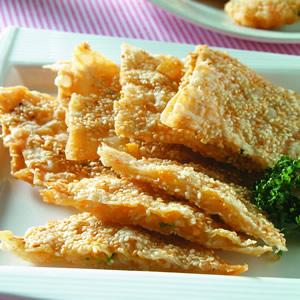 芝麻蛋黃蝦餅