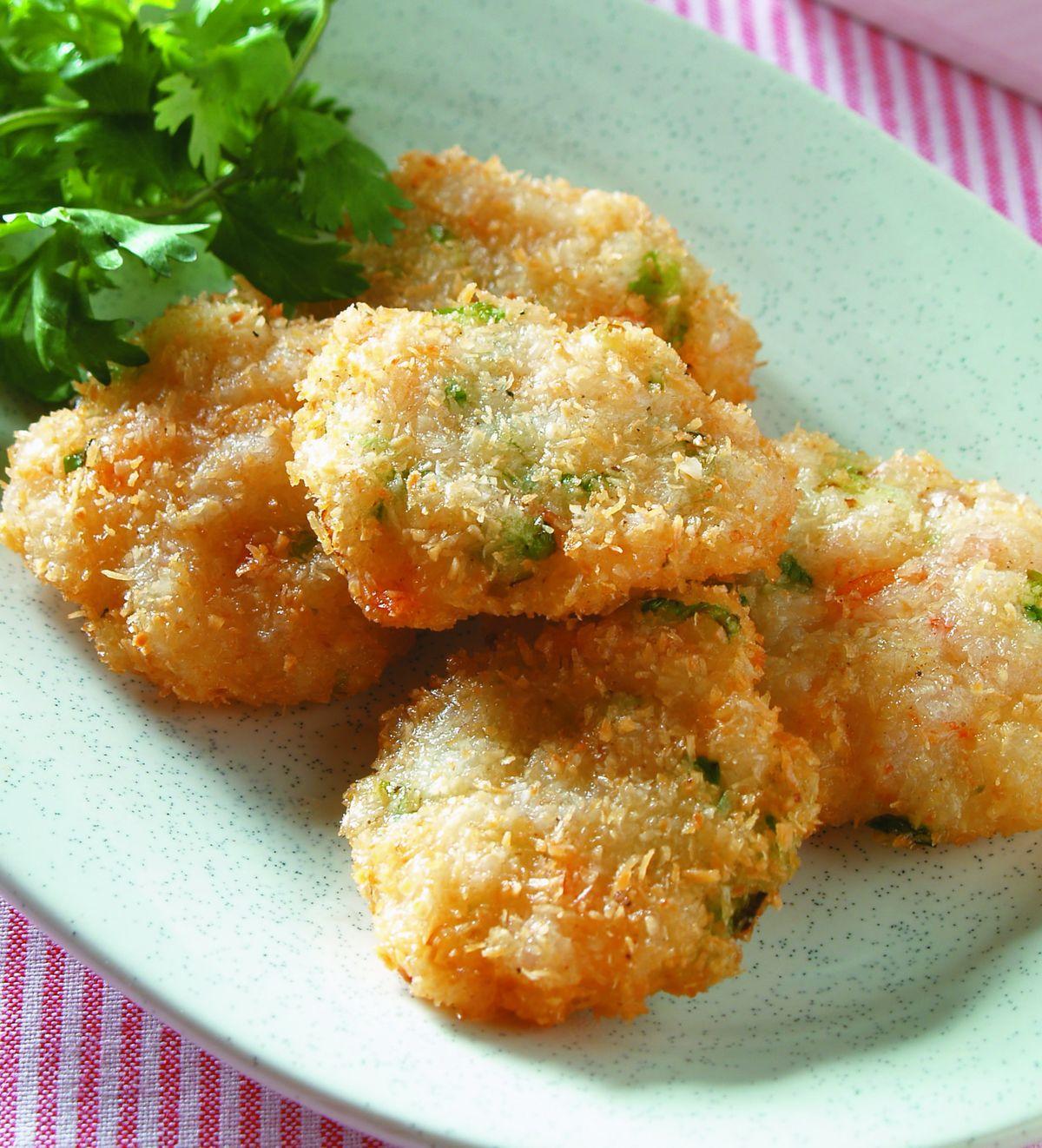 食譜:椰絲蝦餅