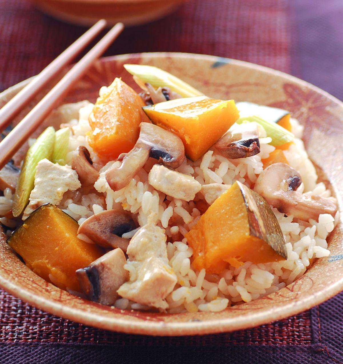 食譜:南瓜雞肉燉飯(1)