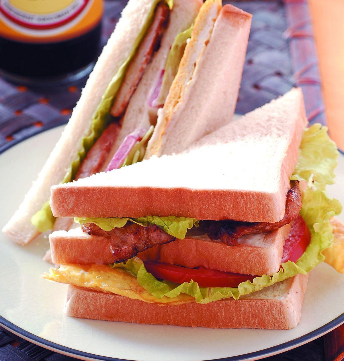 食譜:碳燒里肌三明治