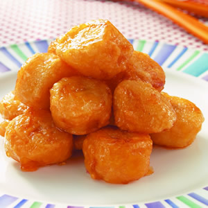 拔絲香蕉(油水拔法)