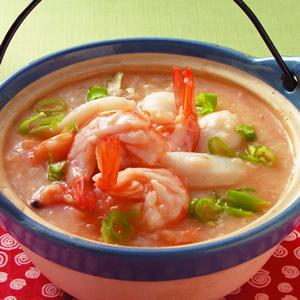 鮮蝦砂鍋粥