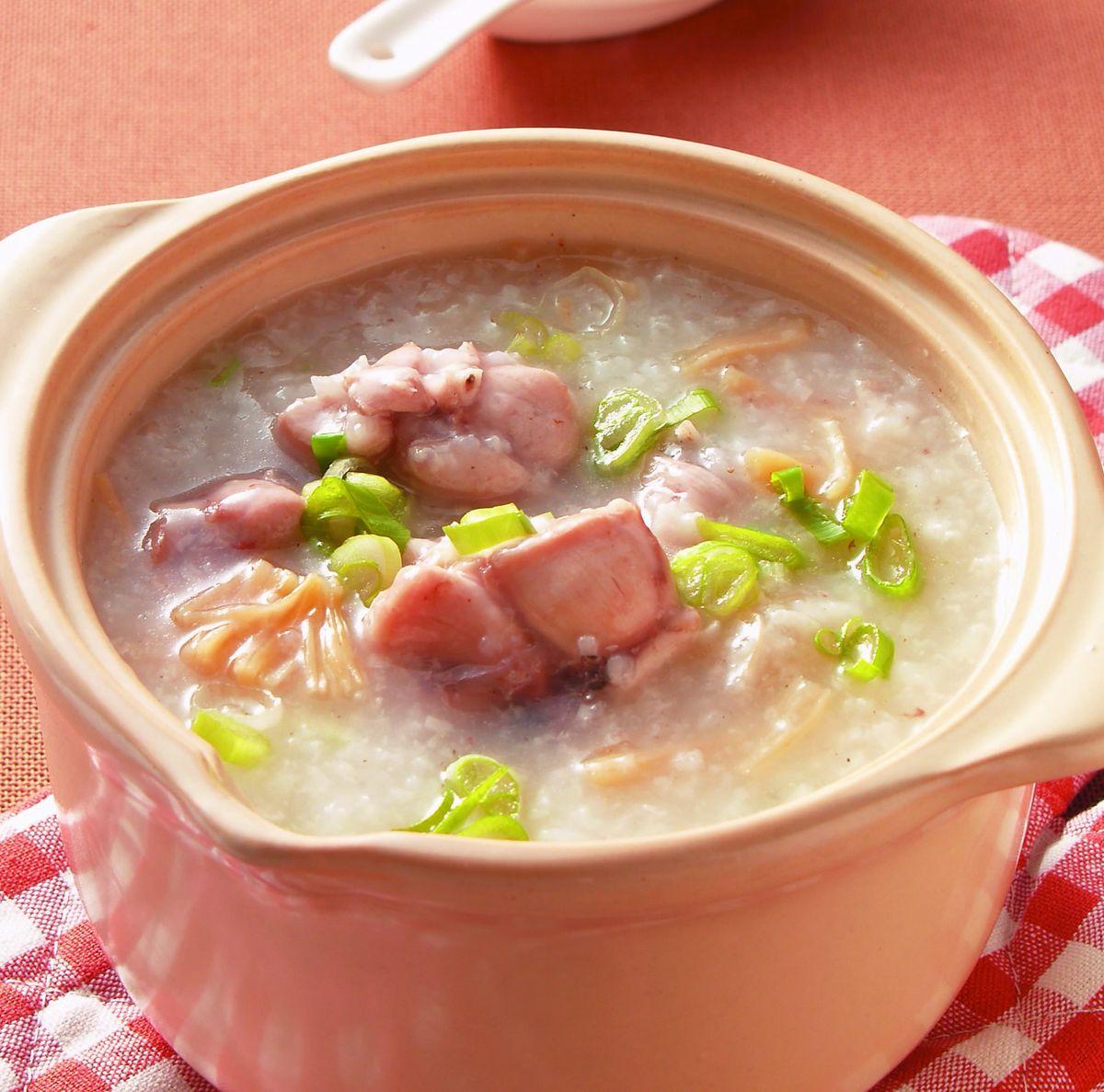 食譜:干貝田雞砂鍋粥