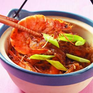 沙茶鮮蝦粉絲煲(1)