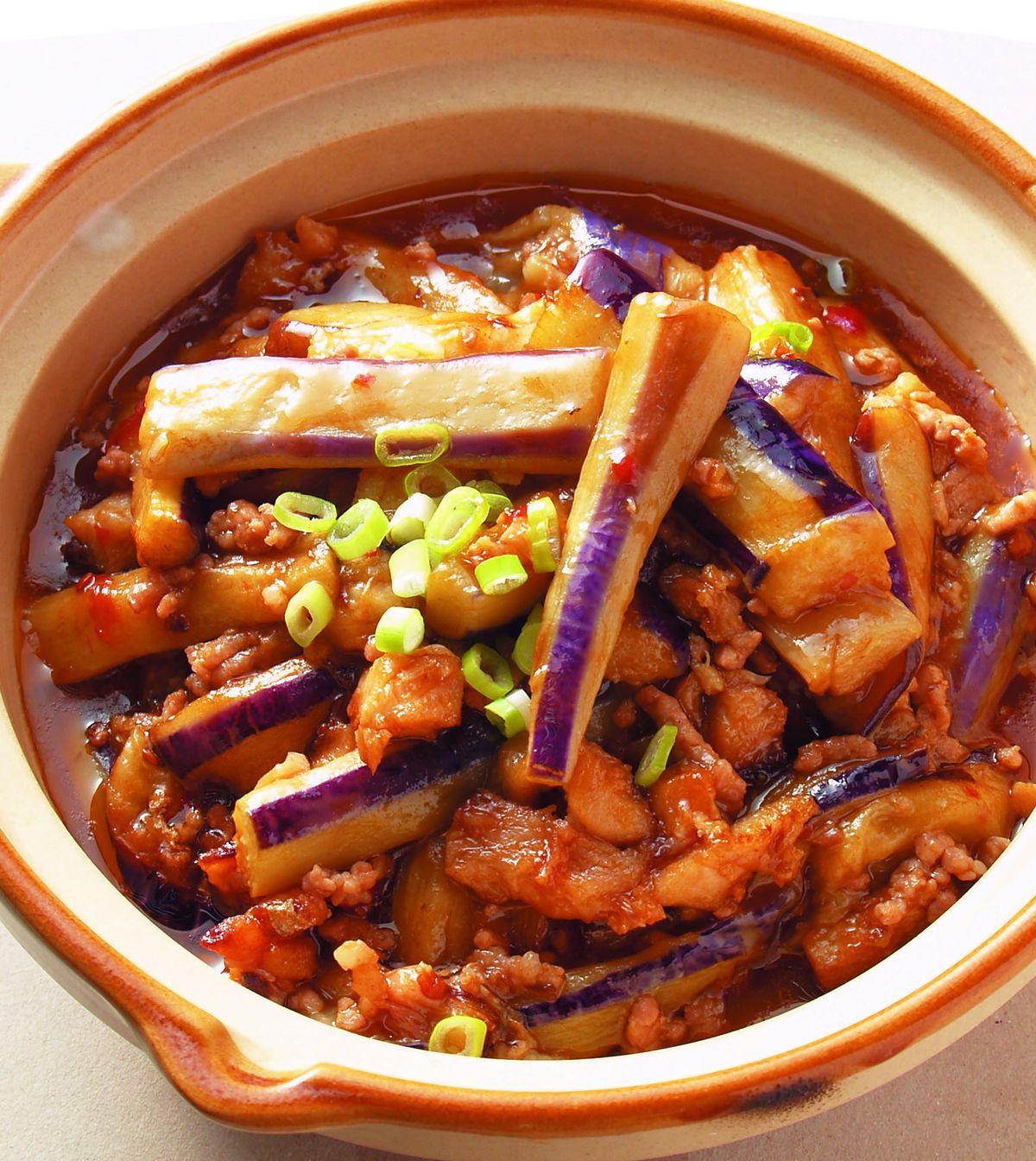 食譜:魚香茄子煲