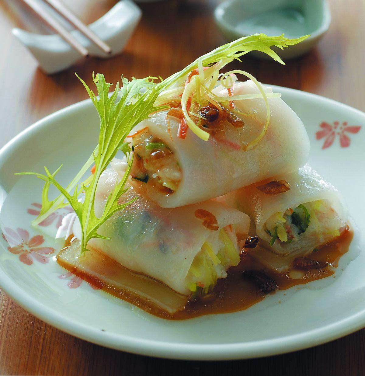 食譜:鮮蝦蒸粉腸