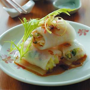 鮮蝦蒸粉腸