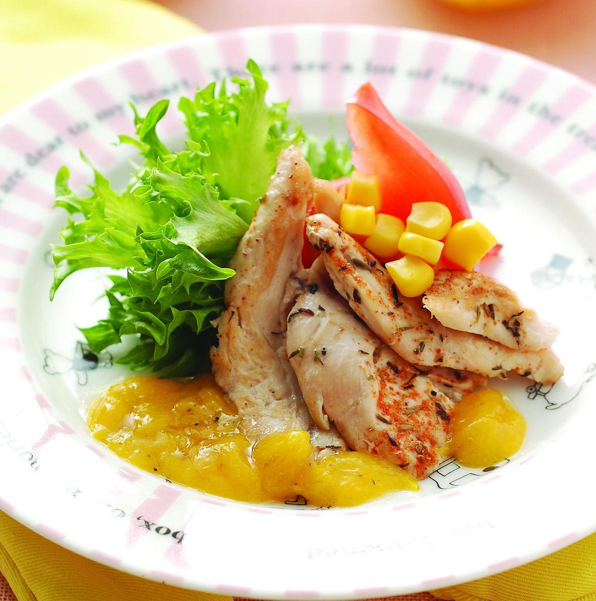 食譜:烤雞肉片蕃茄生菜沙拉
