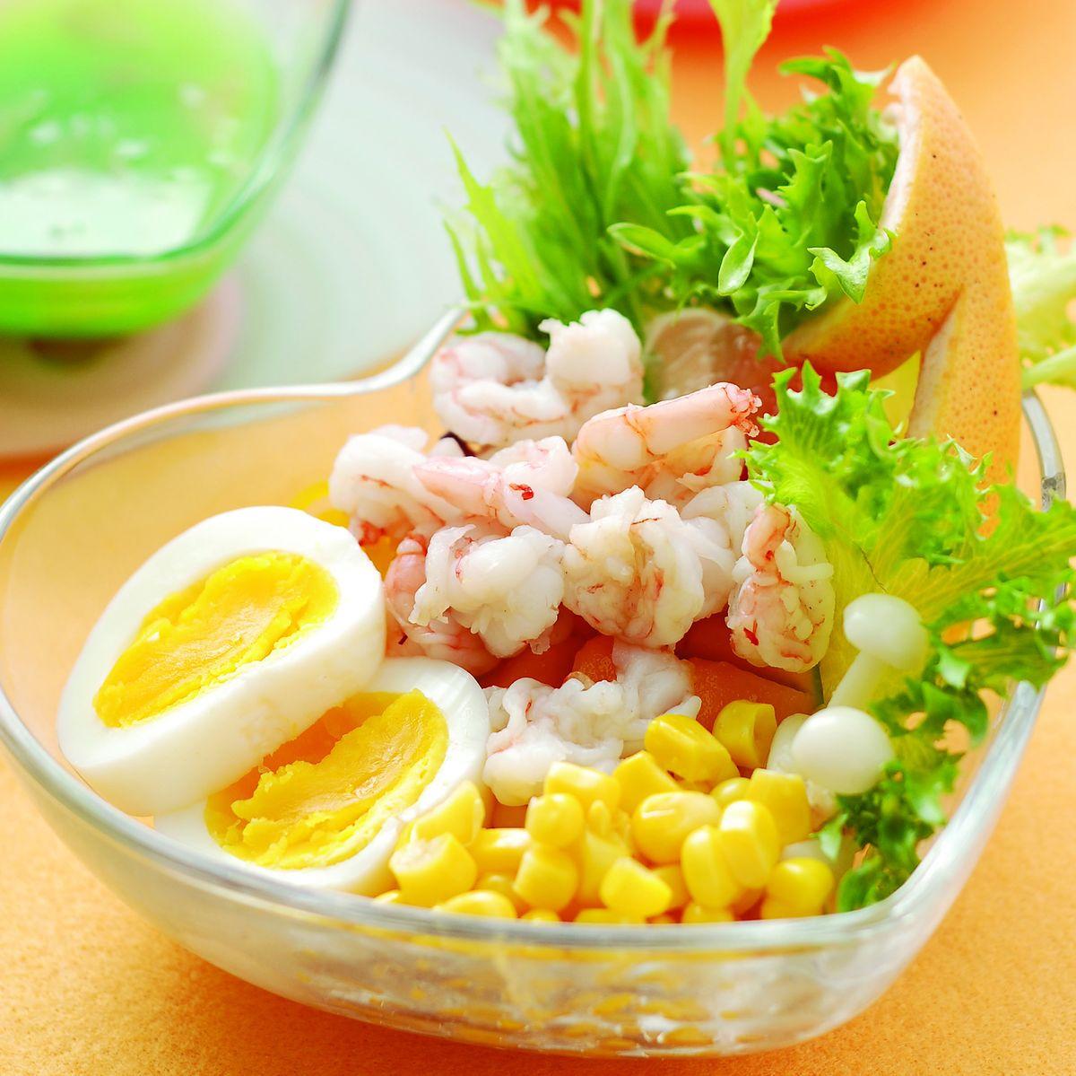 食譜:鮮蝦生菜沙拉
