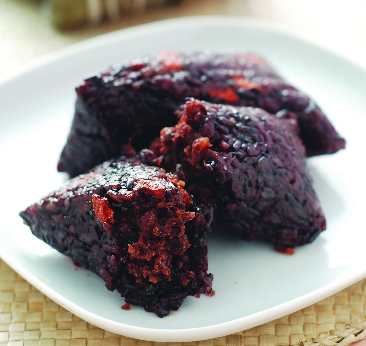 食譜:紫米豆沙粽(1)