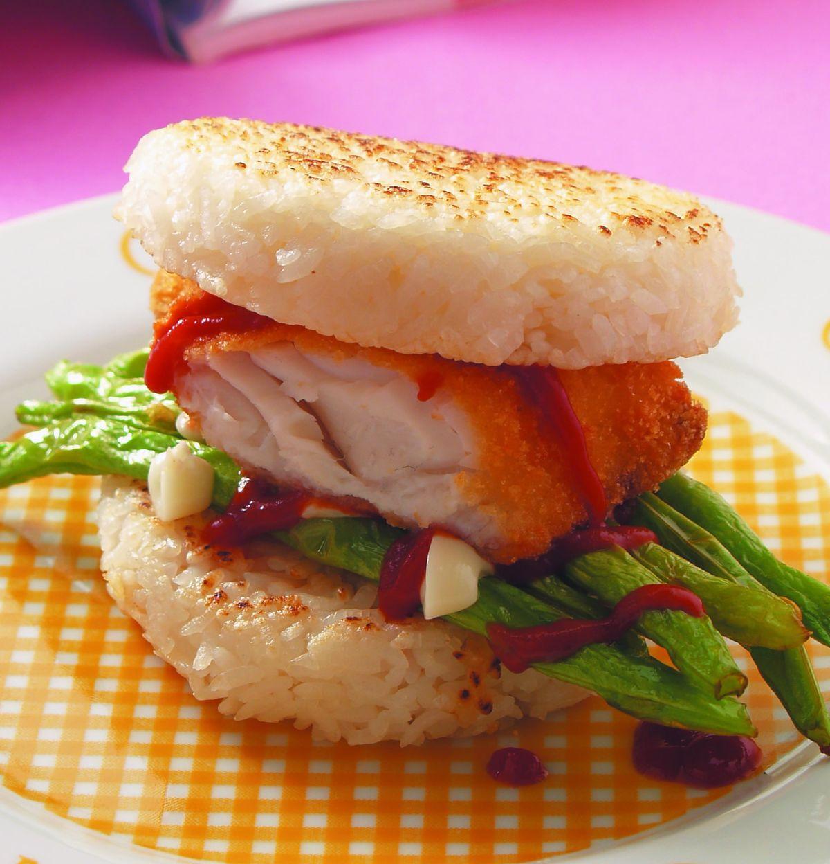 食譜:魚香米堡