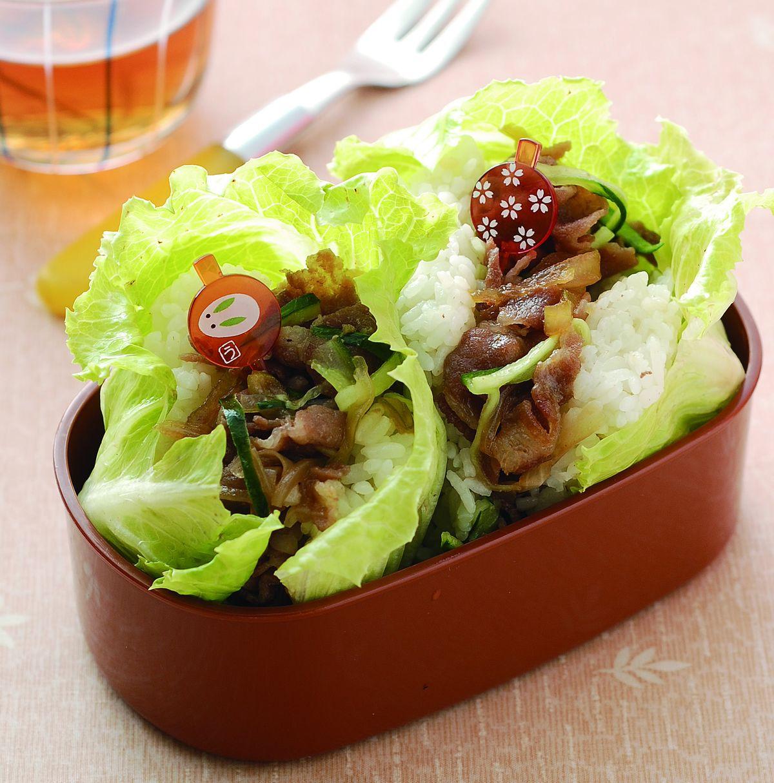 食譜:洋蔥照燒肉片夾心飯糰