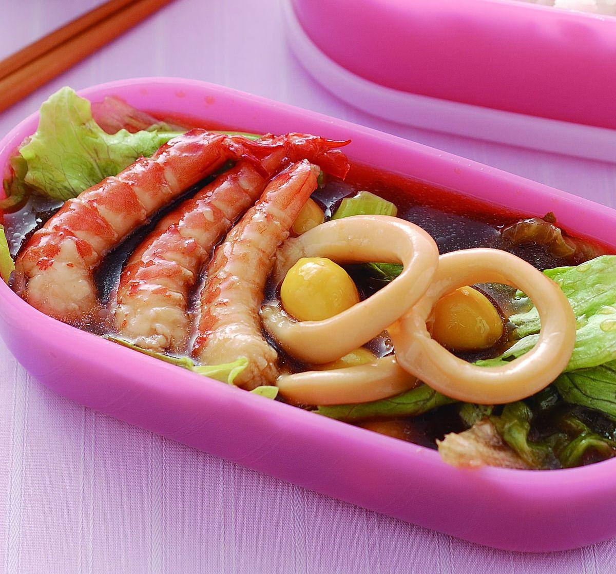 食譜:海鮮蓋飯便當