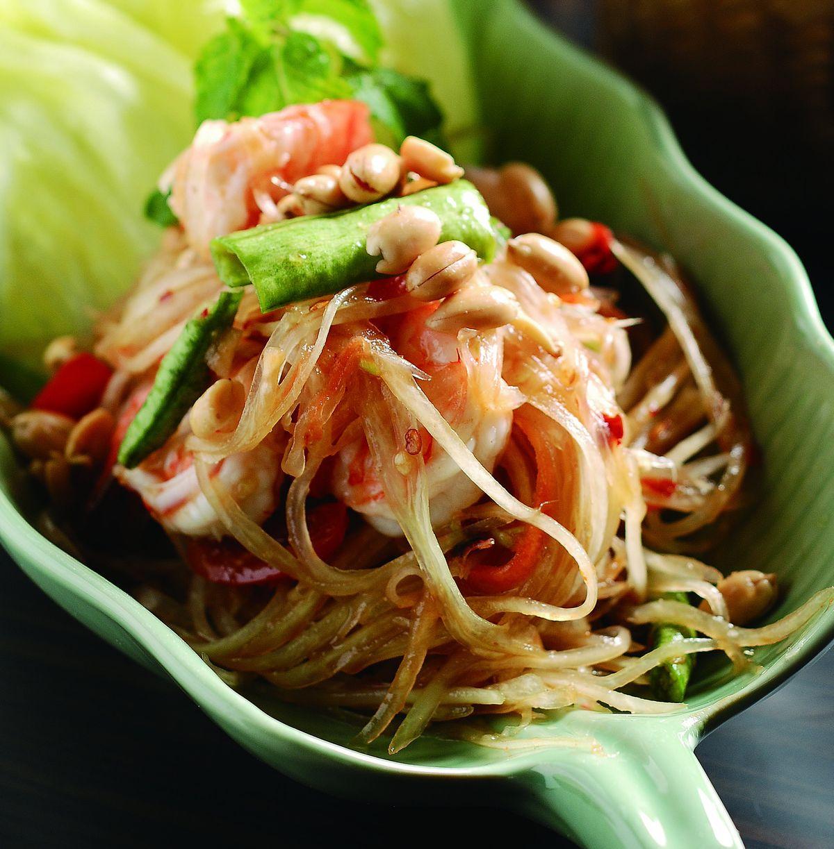 食譜:青木瓜蝦沙拉
