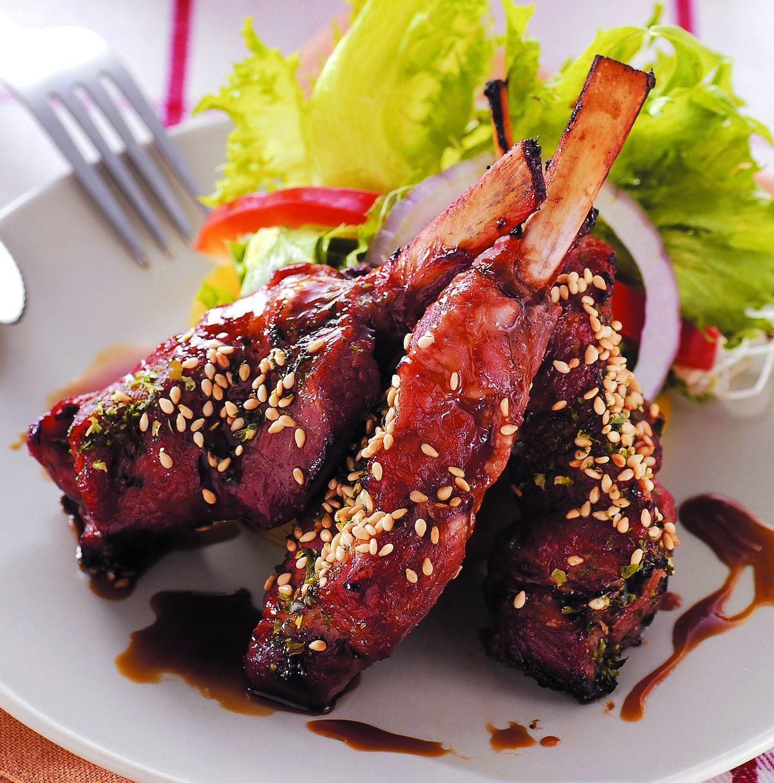 食譜:和風黑糖醬烤羊排(1)