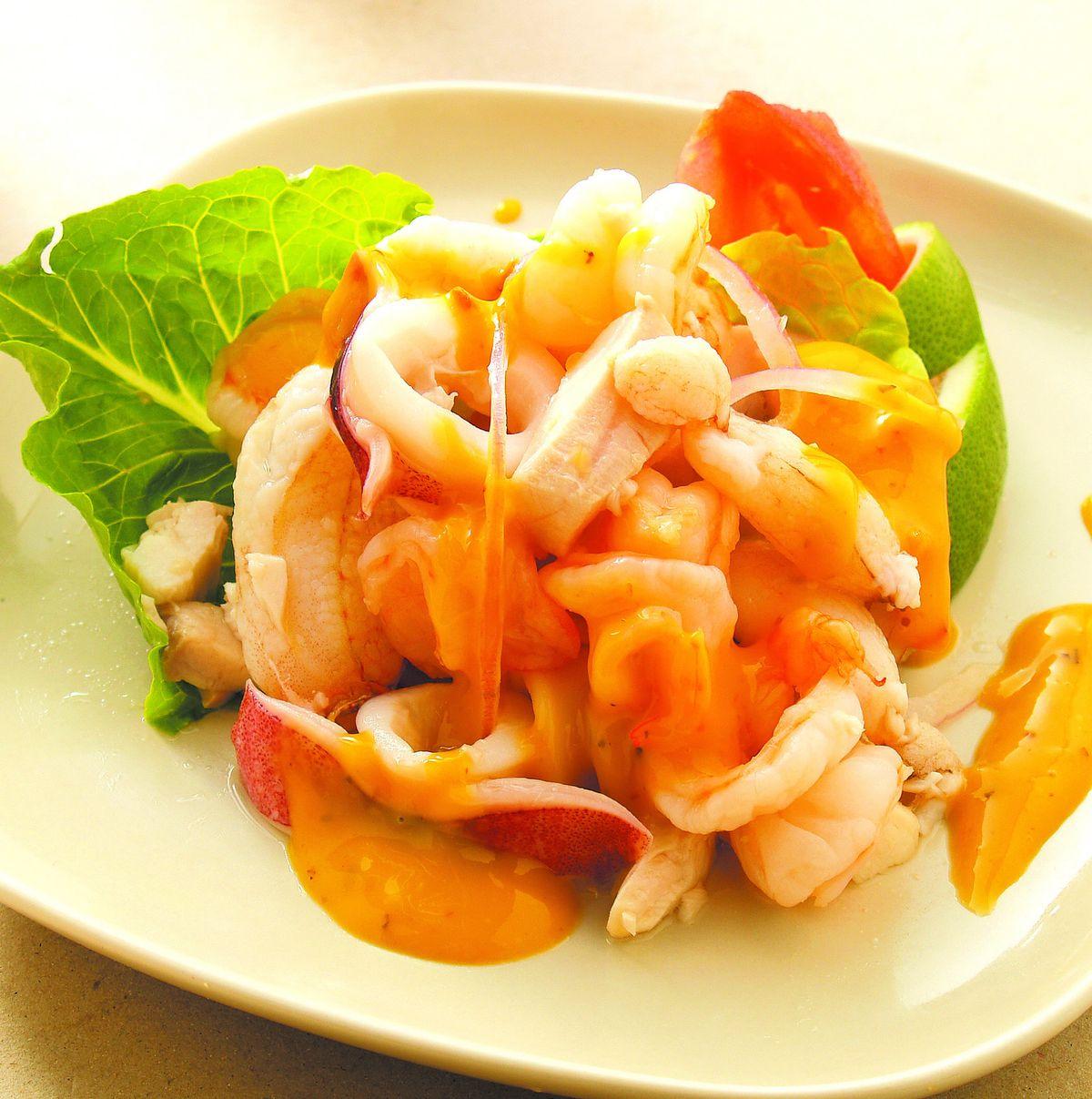 食譜:涼拌海鮮