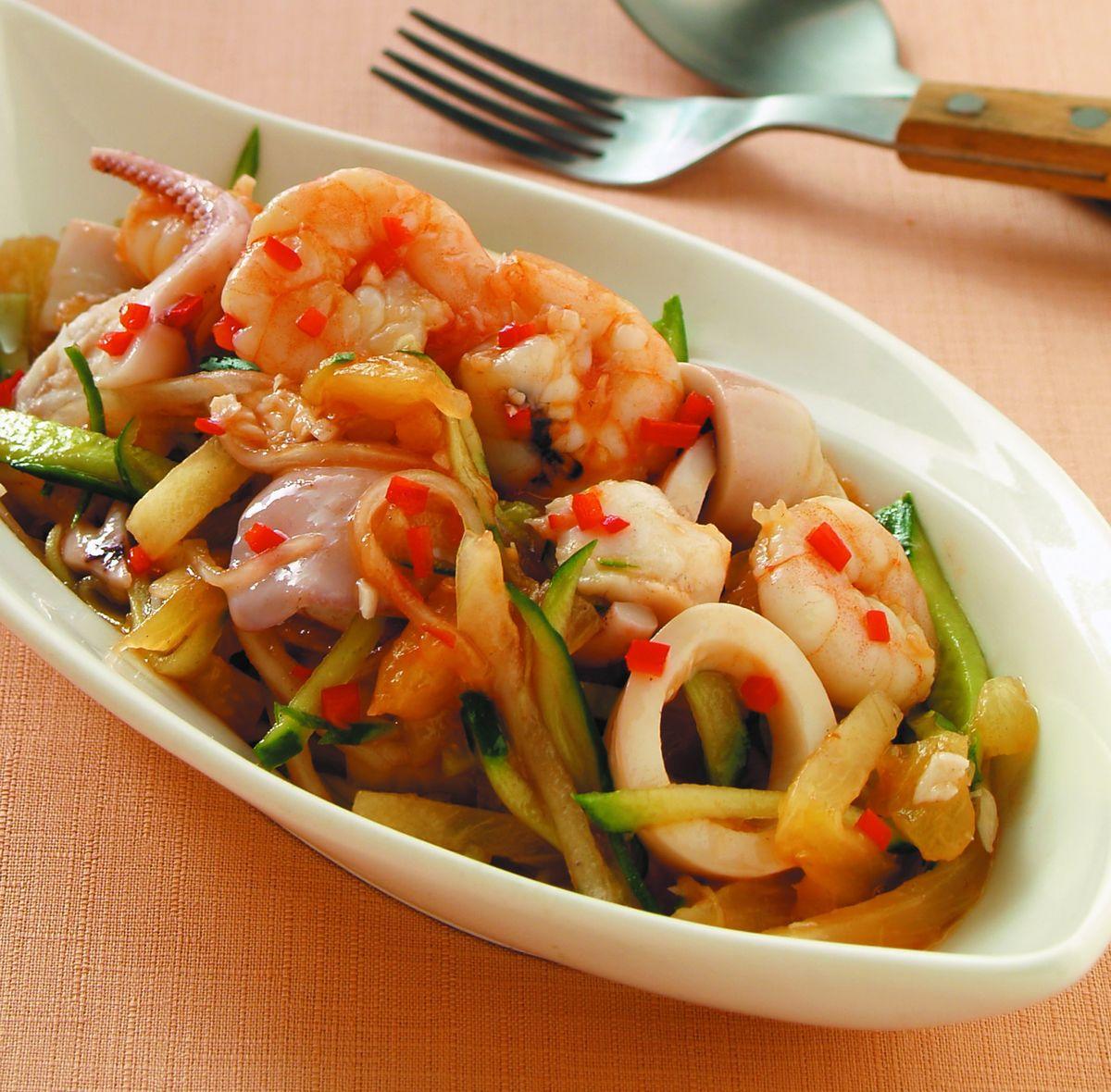 食譜:涼拌海鮮(1)