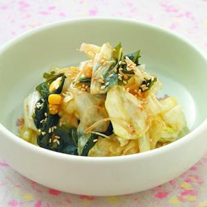 高麗菜拌裙帶芽