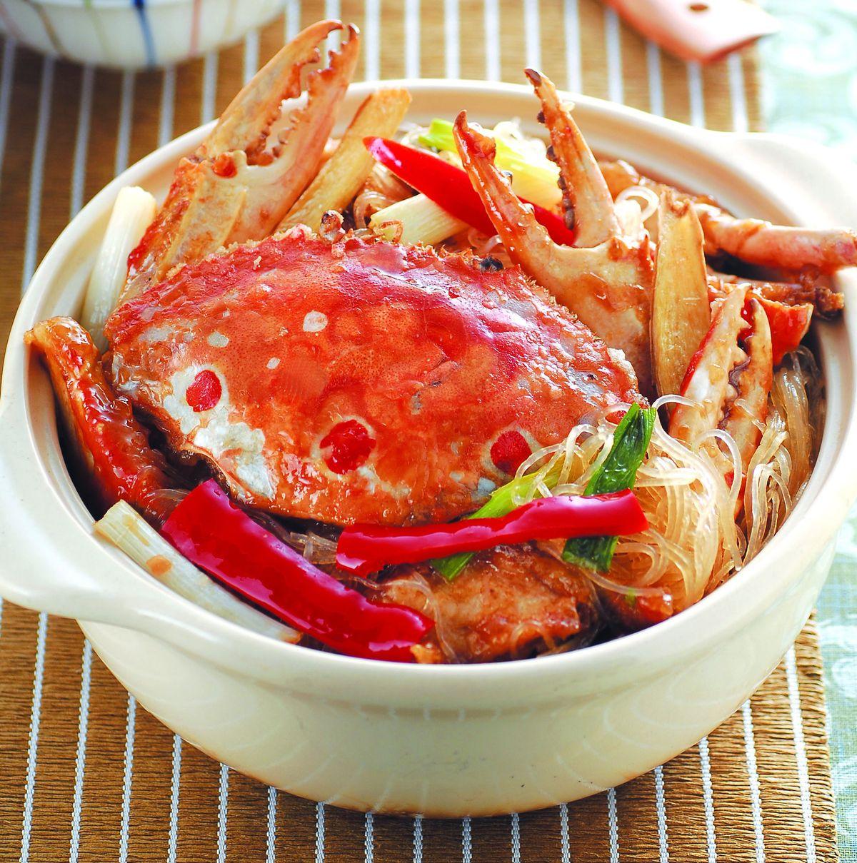 食譜:砂鍋粉絲蟹
