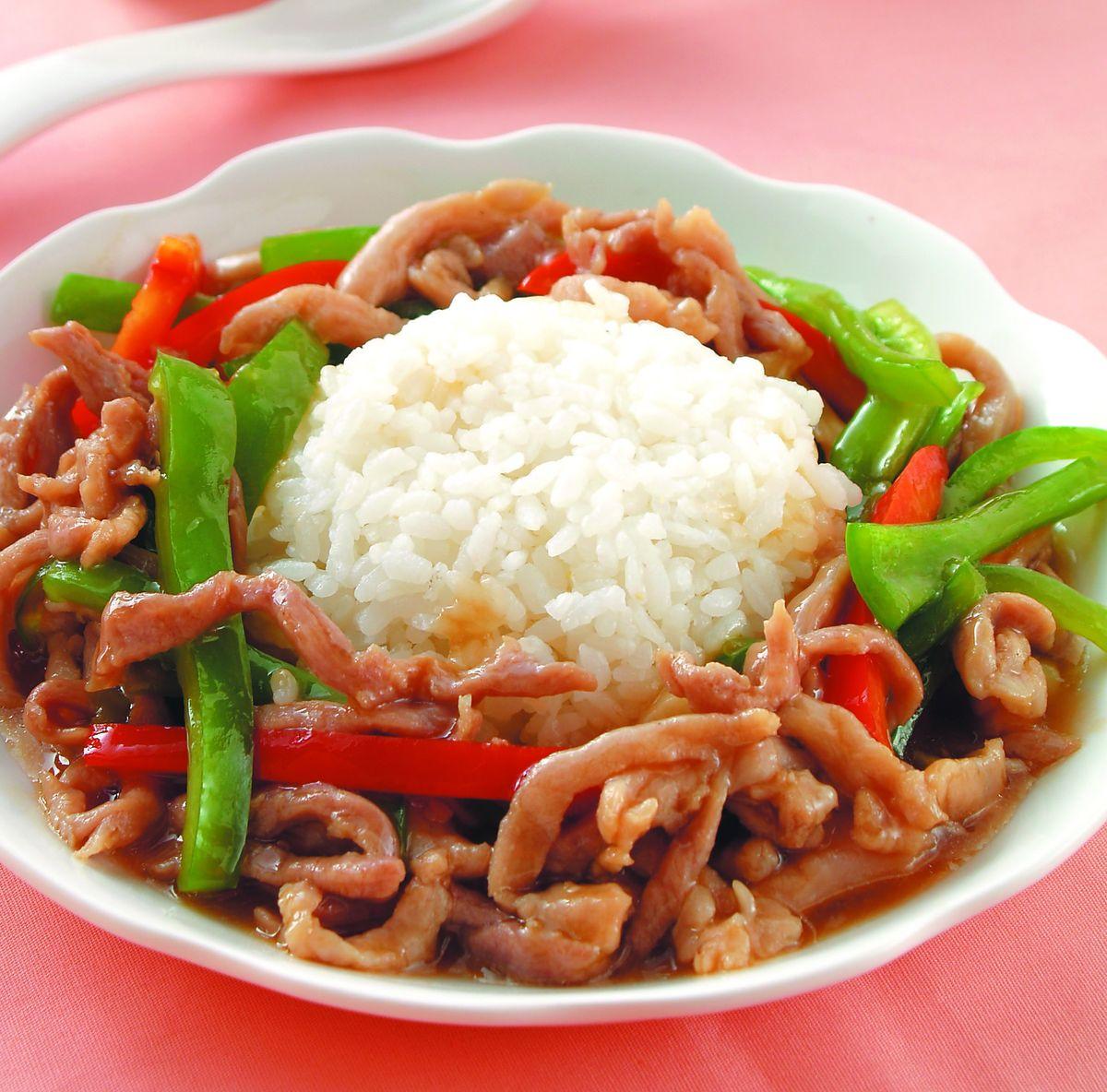 食譜:青椒肉絲燴飯