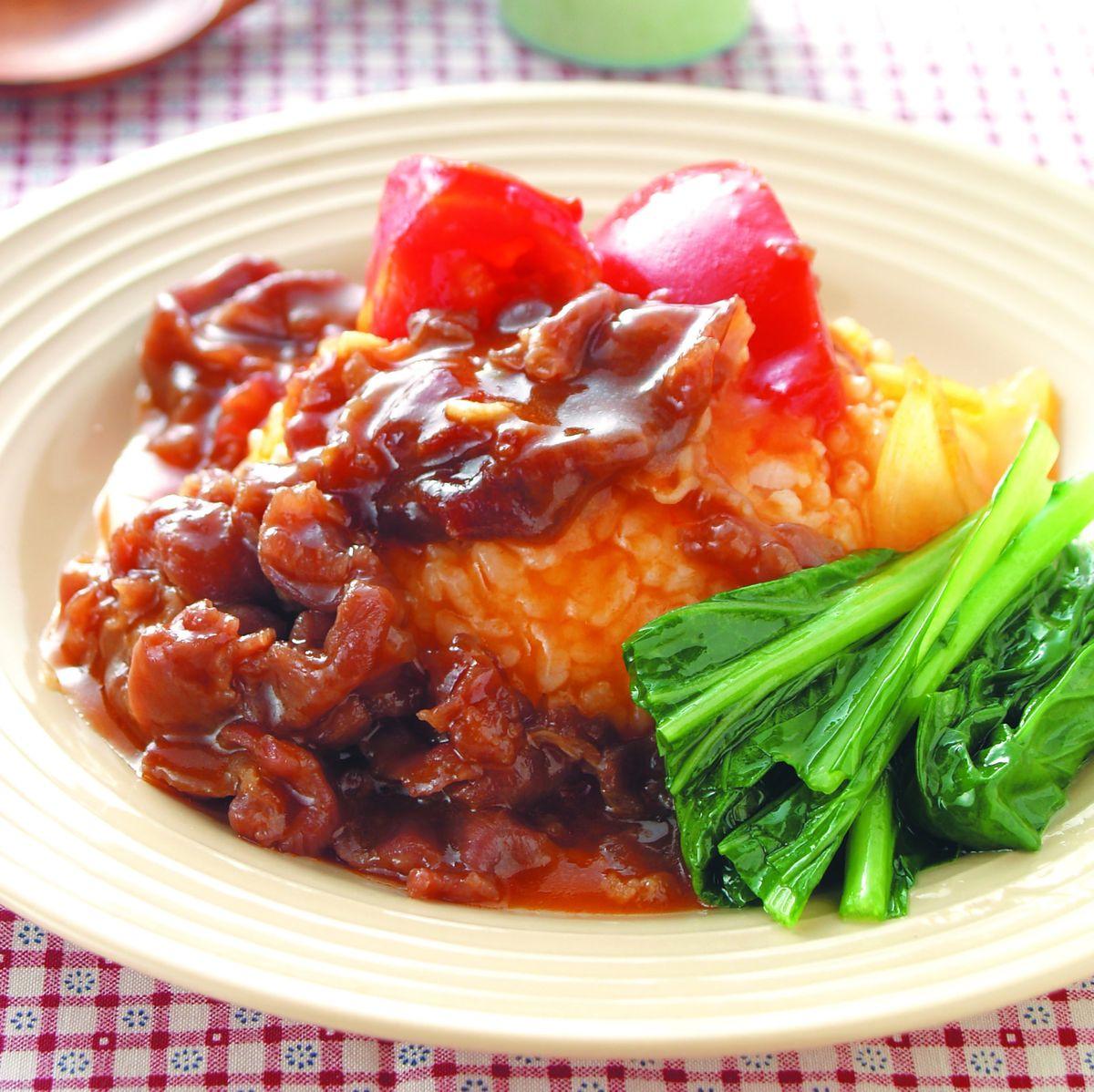 食譜:蕃茄洋蔥牛燴飯