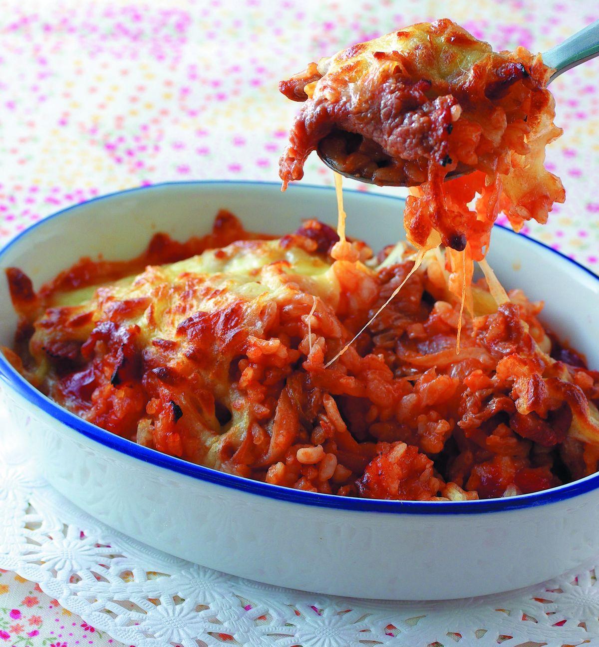 食譜:洋蔥豬肉焗飯