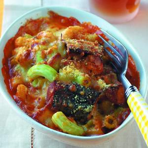 茄汁鯖魚焗通心麵
