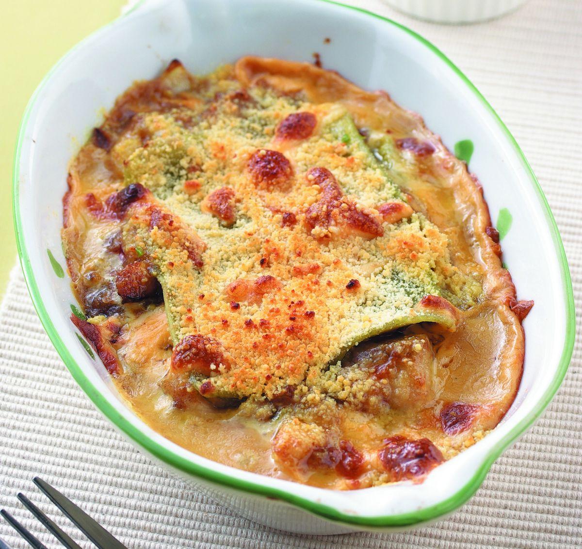 食譜:咖哩野菇焗烤千層麵