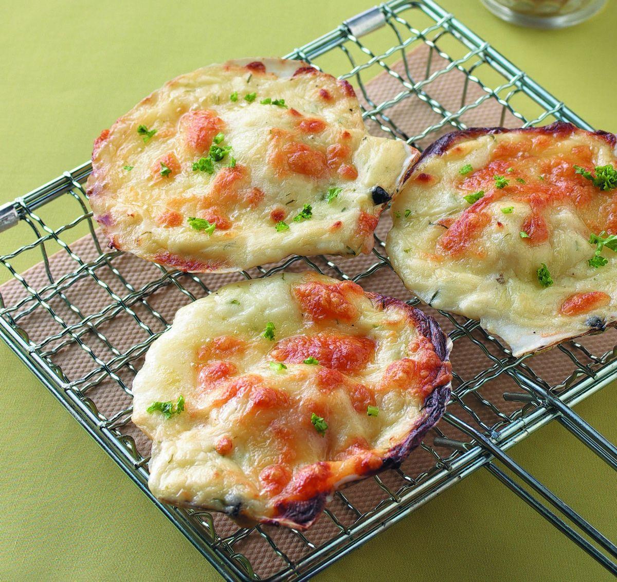 食譜:蒜味奶油焗烤扇貝