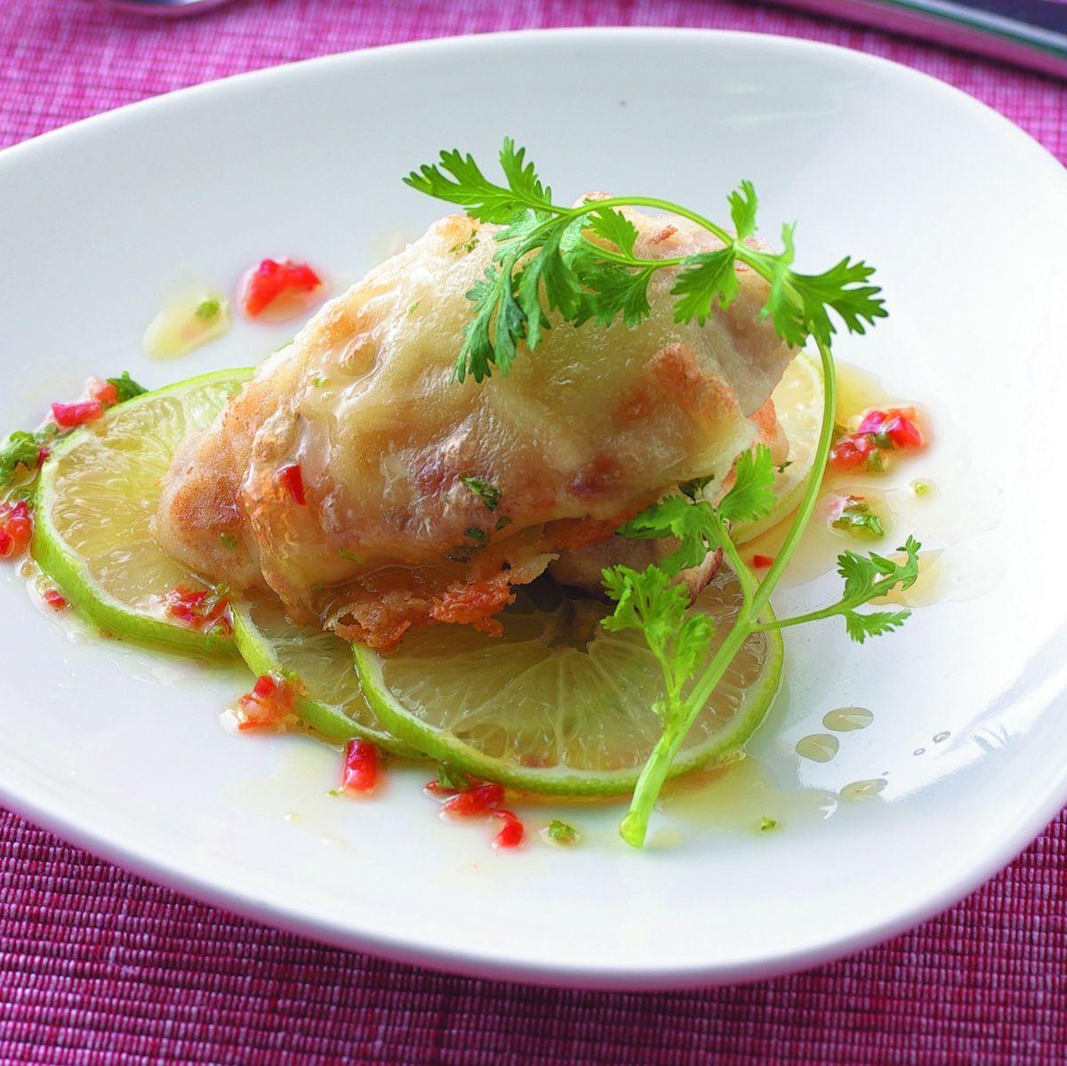 食譜:檸汁西柚焗烤鯛魚