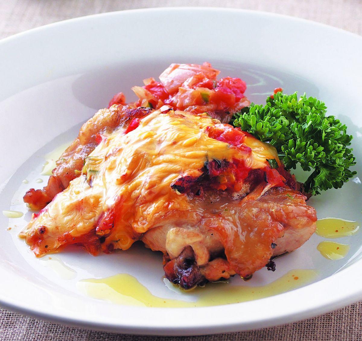 食譜:義式香料蔬菜焗雞腿