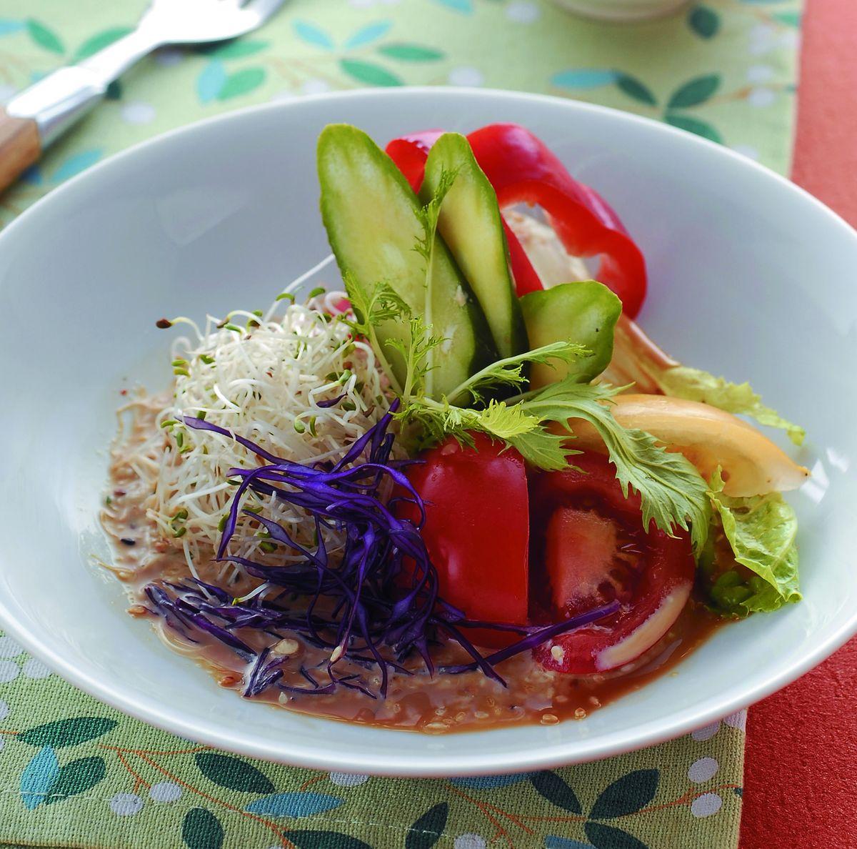 食譜:田園生菜佐和風醬