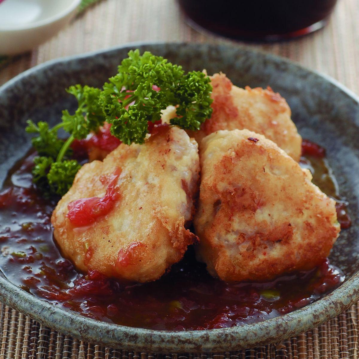 食譜:蝦仁豆腐佐西柚芥末醬