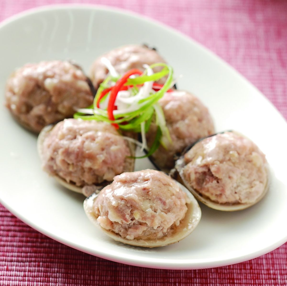 食譜:麻油蛤蜊鑲肉