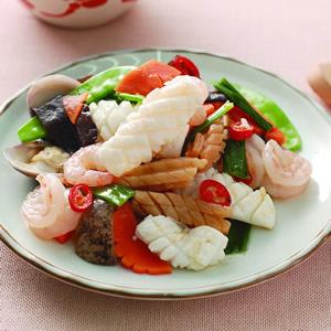 麻油炒海鮮