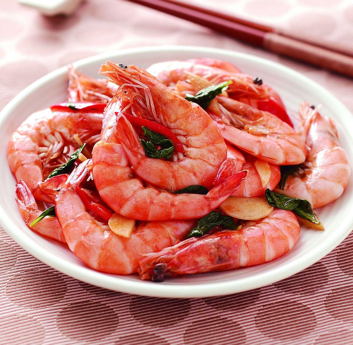 食譜:麻油炒鮮蝦