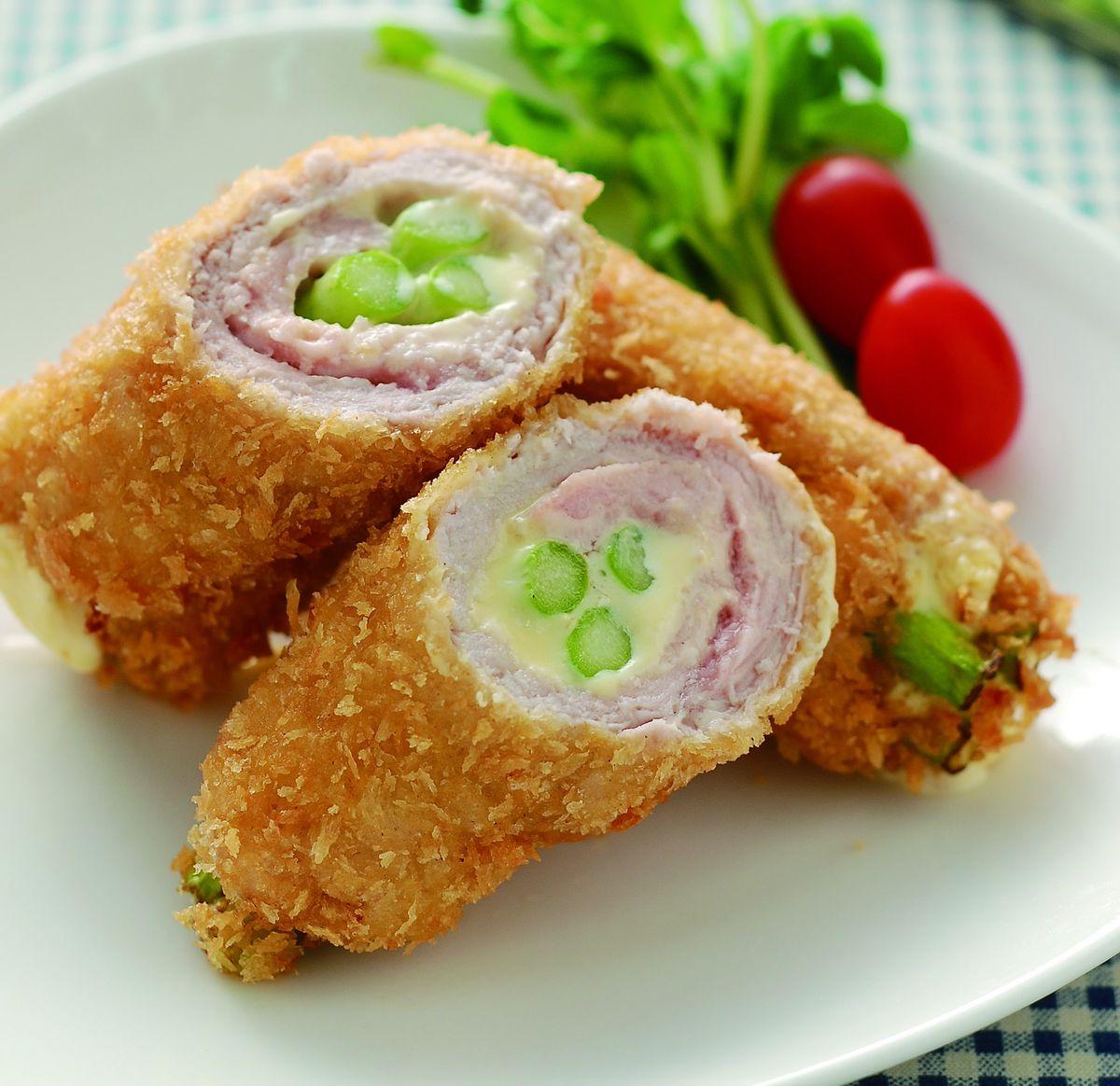 食譜:起司蘆筍豬排捲