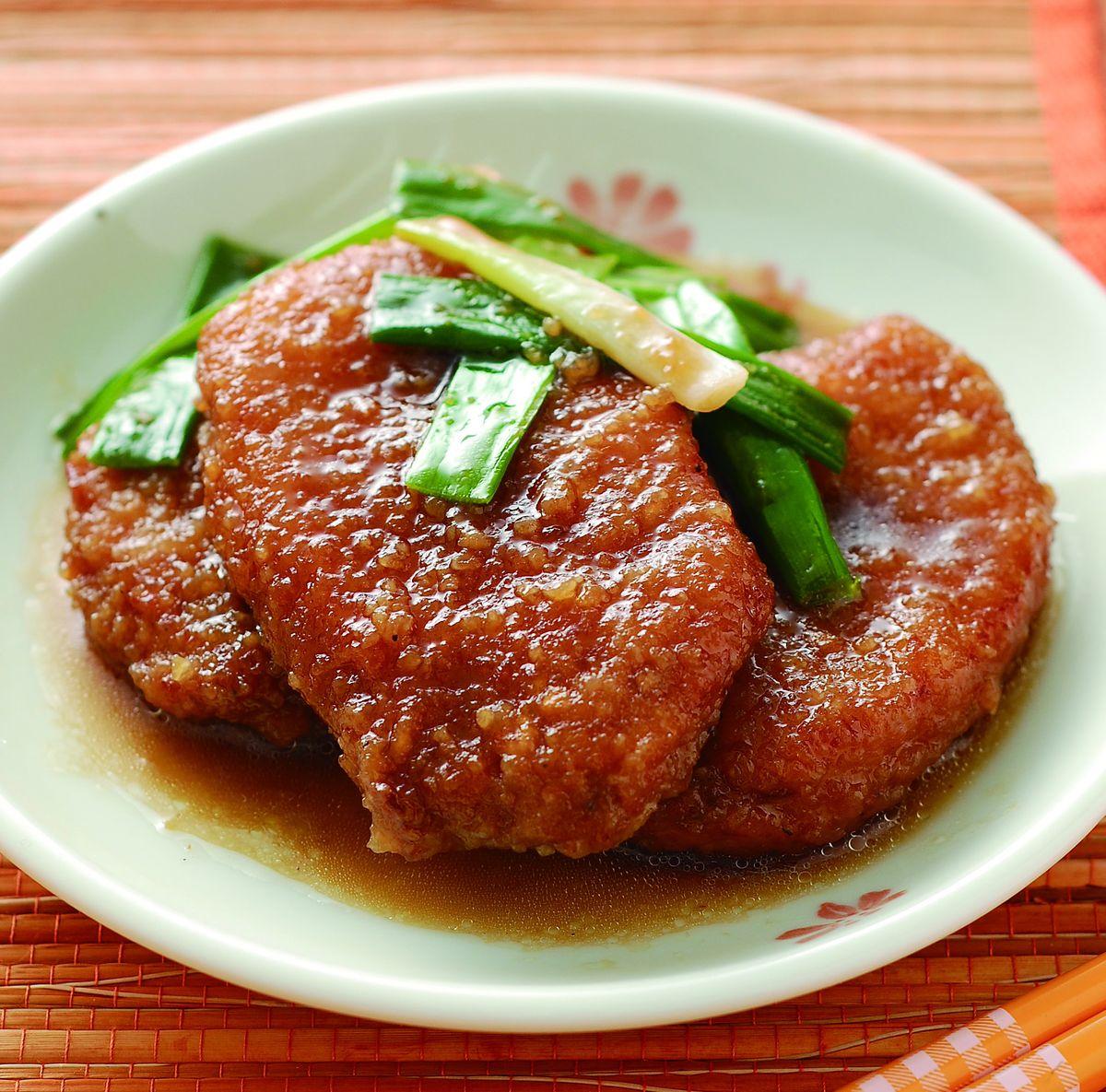 食譜:蔥燒豬排