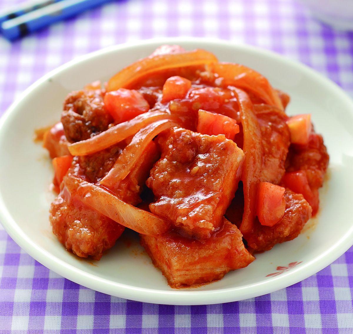 食譜:茄汁豬排(2)