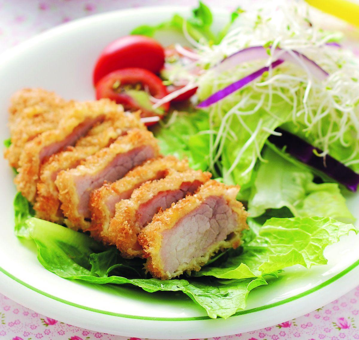 食譜:豬排沙拉