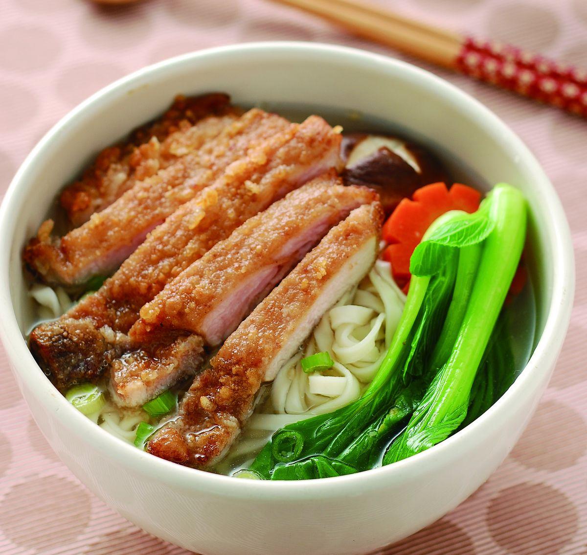 食譜:豬排麵